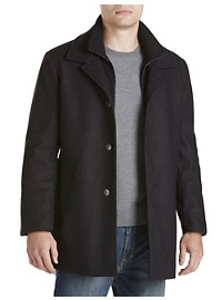 Calvin Klein Zale Plaid Overcoat
