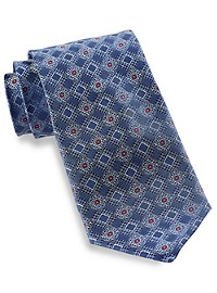 Rochester Geo Box Medallion Silk Tie
