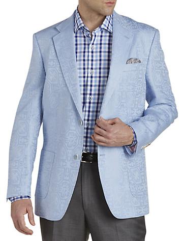 Big & Tall Tallia Orange Tonal Jacquard Sport Coat