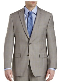 Michael Kors Sharkskin Plaid Suit Jacket