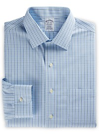 Brooks Brothers Non-Iron Framed Check Dress Shirt