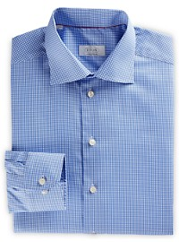 Eton Gingham Dress Shirt