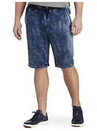 True Religion Decayed Tie-Dye Terry Sweatshorts