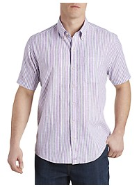 Cutter & Buck River Front Stripe Sport Shirt