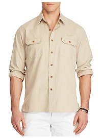 Polo Ralph Lauren Cotton Twill Utility Shirt
