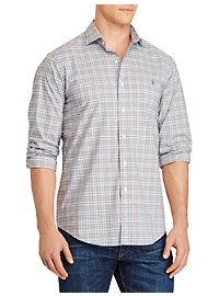 Polo Ralph Lauren Plaid Stretch Poplin Sport Shirt