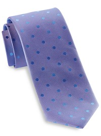 Michael Kors Oxford Dot Silk Tie