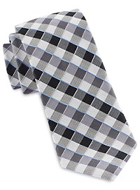 Michael Kors Shadow Gingham Silk Tie
