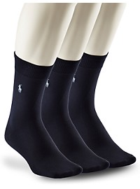Polo Ralph Lauren 3-pk Super-Soft Crew Socks