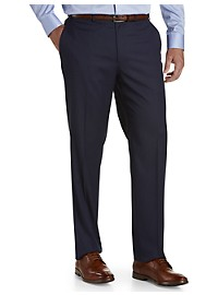 Michael Kors Mini Grid Flat-Front Suit Pants