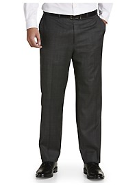 Michael Kors Glen Plaid Flat-Front Suit Pants