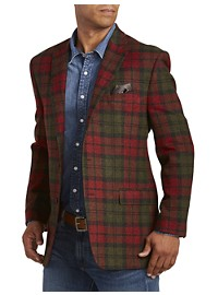 Ralph by Ralph Lauren Comfort Flex Plaid Wool Sport Coat