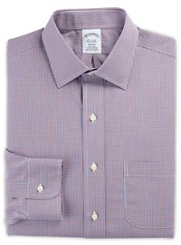 Brooks Brothers Non-Iron Mini Check Broadcloth Dress Shirt