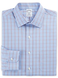 Brooks Brothers Non-Iron Large Houndstooth Broadcloth Dress Shirt