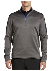 Callaway Waffle Knit Quarter-Zip Colorblock Pullover