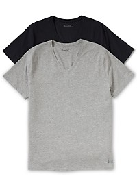 Under Armour 2-Pk. Stretch V-Neck Undershirts