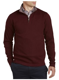 Brooks Brothers Doubleface Half-Zip Pullover