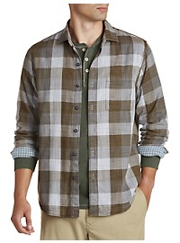 Tommy Bahama Double-Weave Plaid Sport Shirt