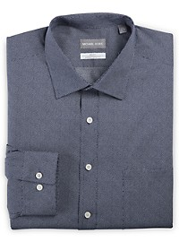 Michael Kors Non-Iron Dot Print Stretch Dress Shirt