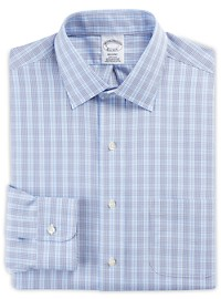 Brooks Brothers Non-Iron Double Overcheck Broadcloth Dress Shirt