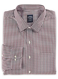 Brooks Brothers Non-Iron Diamond Dobby Dress Shirt