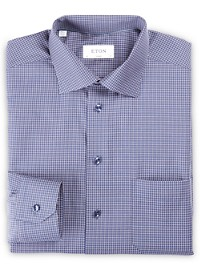 Eton Mini Check Dress Shirt