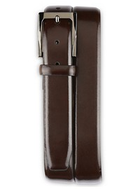 Rochester Feather-Edge Leather Dress Belt
