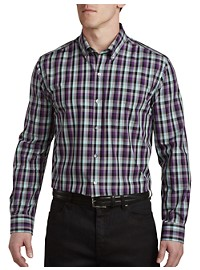 Cutter & Buck Non-Iron Sawyer Plaid Sport Shirt