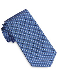 Robert Talbott Best of Class Neon Grid Neat Silk Tie