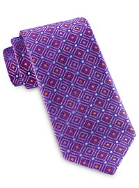 Robert Talbott Best of Class Medium Diamond Medallion Silk Tie