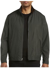Remy Reversible Lightweight Microfiber Jacket with Leather Trim
