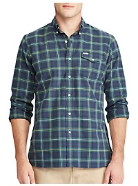 Polo Ralph Lauren Tartan Plaid Oxford Sport Shirt