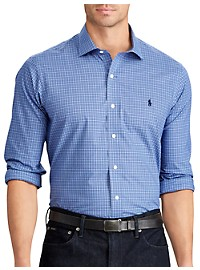 Polo Ralph Lauren Non-Iron Classic Fit Plaid Poplin Sport Shirt