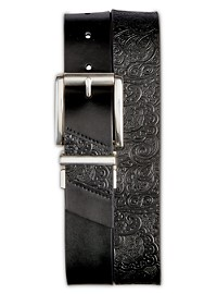 Robert Graham Potter Reversible Embossed Leather Belt