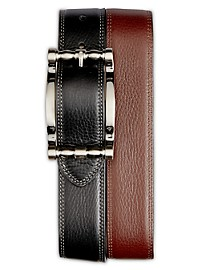 Robert Graham Cedar Big Buckle Reversible Leather Belt