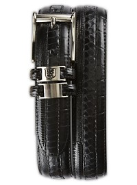 Stacy Adams Exotic Embossed Leather Belt