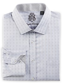 English Laundry Oval Dobby Dress Shirt
