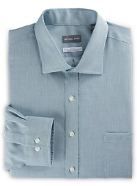 Michael Kors Non-Iron Textured Solid Stretch Dress Shirt