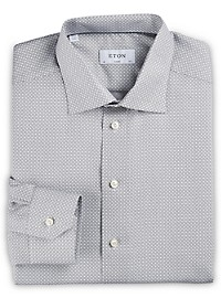 Eton Circle Geometric Print Dress Shirt