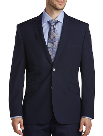 Big & Tall English Laundry Tonal Mini Check Suit Jacket