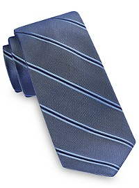 Michael Kors Dress Stripe Shadow Silk Tie
