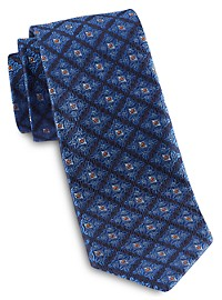 Robert Talbott Traditional Diamond Medallion Silk Tie