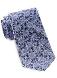 Rochester Large Circle Medallion Silk Tie