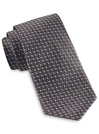 Rochester Designed in Italy Small Geo Neat Silk Tie