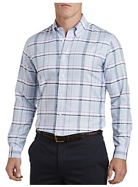 Brooks Brothers Non-Iron Viola Plaid Oxford Sport Shirt