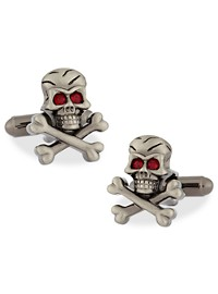 Link Up Skull and Crossbones Cuff Links