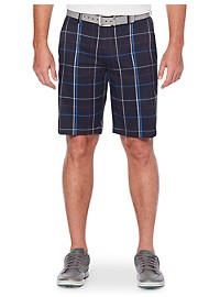 Callaway Plaid Flat-Front Active Shorts
