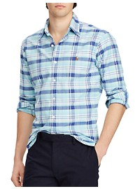 Polo Ralph Lauren Classic Fit Plaid Oxford Sport Shirt