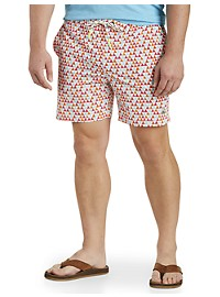 Psycho Bunny Triangle-Print Swim Trunks