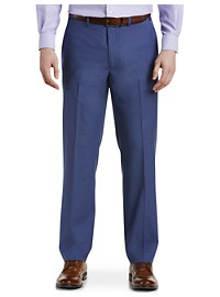Michael Kors Solid Flat-Front Suit Pants